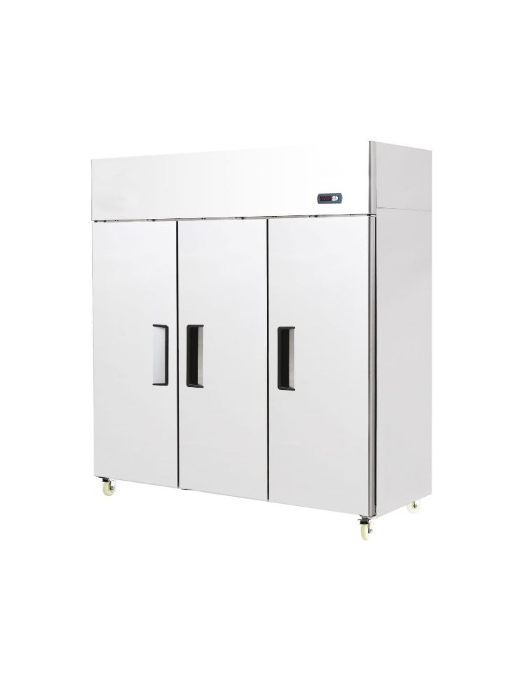 Armadio frigorifero ventilato 2 porte lt in acciaio for Frigorifero 3 porte