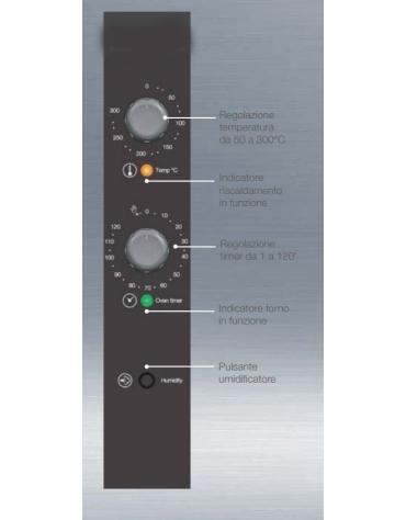 Forno elettrico ventilato a convezione gastronomia 7 teglie GN 1/1
