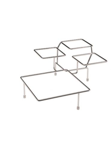 Supporto in acciaio cromato - Pi. nr. 4 - cm 39x39x17h