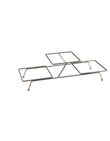 Supporto in acciaio cromato - Pi. nr. 3 - cm 55,5x18x15,5h