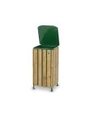 Cestone porta rifiuti in legno per parchi o giardini