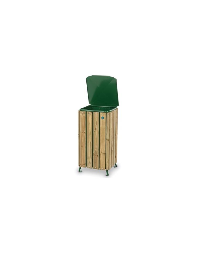 Cestone porta rifiuti in legno per parchi o giardini for Scivoli in legno per giardini