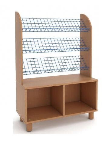 Mobile libreria a 3 ripiani in nobilitato di faggio - Dim: cm 100 x 45 x 135h