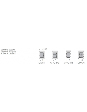 Cuocipasta elettrico 1 vasca capacità 40 lt cm 40x70x85h
