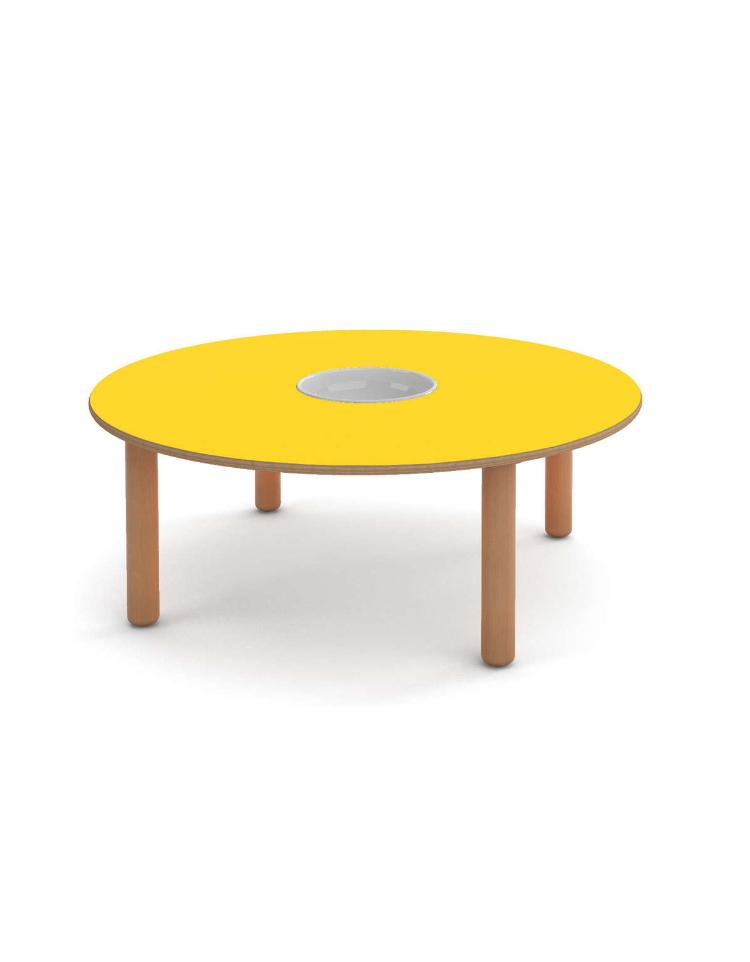 Tavolo rotondo per manipolazione nido cm diam 120x43h for Tavolo rotondo 70 cm