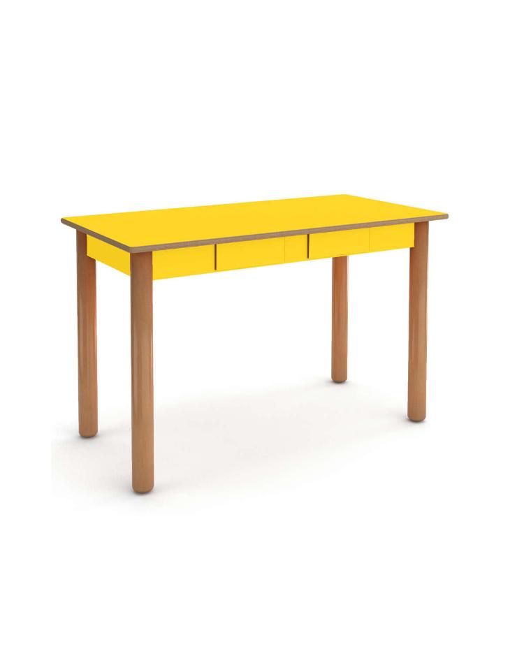 Tavolo rettangolare insegnante 2 cassetti cm for Tavolo rettangolare