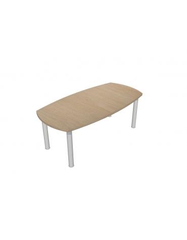 Tavolo riunione direzionale ovale su capitelli - cm 200x100x75h