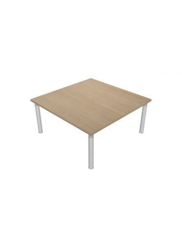 Tavolo riunione quadrato su capitelli - cm 200x100x75h