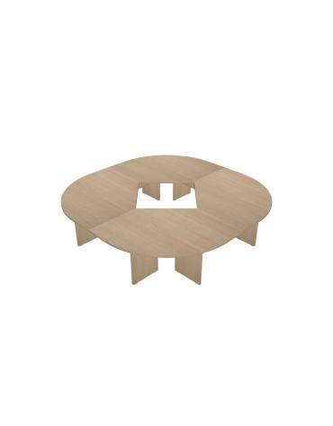 Tavolo riunione composto circolare - cm 30x320x75h