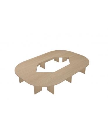 Tavolo riunione composto ovale - cm 460x320x75h