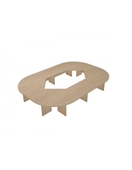 Tavolo riunione direzionale composto ovale - cm 460x320x75h ...