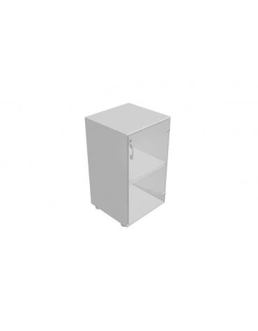 Mobile basso da cm 45 anta vetro con serratura - cm 45x45x80h