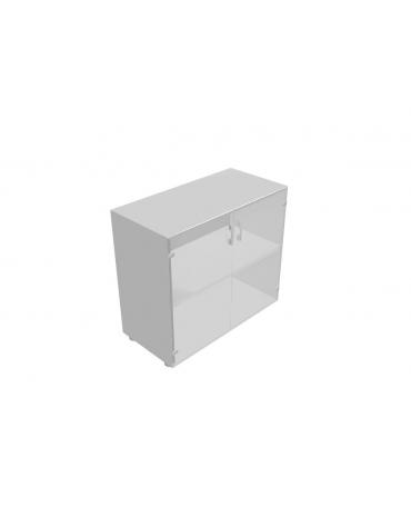 Mobile basso da cm 90 anta vetro senza serratura - cm 90x45x80h