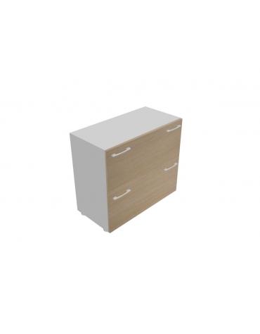 Mobile basso da cm 90 con 2 cassetti classificatori cm 90x45x80h