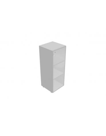 Componenti per mobile medio - anta vetro con serratura telaio allum. - cm 45x45x119