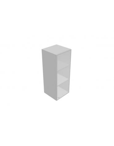 Componenti per mobile medio - anta vetro con serratura sovr. - telaio allum. - cm 45x45x119