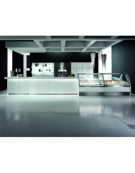 Foto Arredamento Bar Moderno.Arredamento Bar Moderno Illuminato Bianco Linee Bar Arredamento