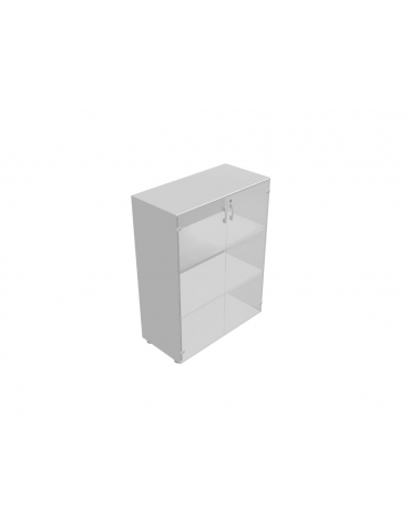 Mobile medio da cm 90 ante vetro con serratura - cm 90x45x119