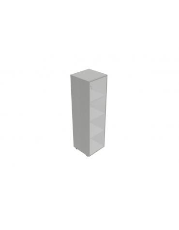 Componenti per mobile medio alto - anta vetro senza serratura telaio allum. - cm 45x45x157h