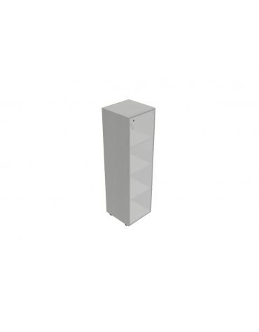 Componenti per mobile medio alto - anta vetro con serratura telaio allum. - cm 45x45x157h