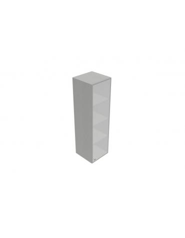 Componenti per mobile medio alto - anta vetro con serratura sovr. - telaio allum. - cm 45x45x157h