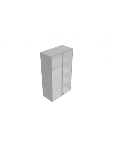Mobile medio - alto da cm 90 ante vetro con serratura sovr. cm 90x45x157h