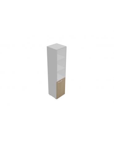 Mobile alto da cm 45 anta legno-vetro senza serratura - cm 45x45x196h