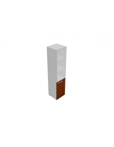 Mobile alto da cm 45 anta legno-vetro con serratura - cm 45x45x196h