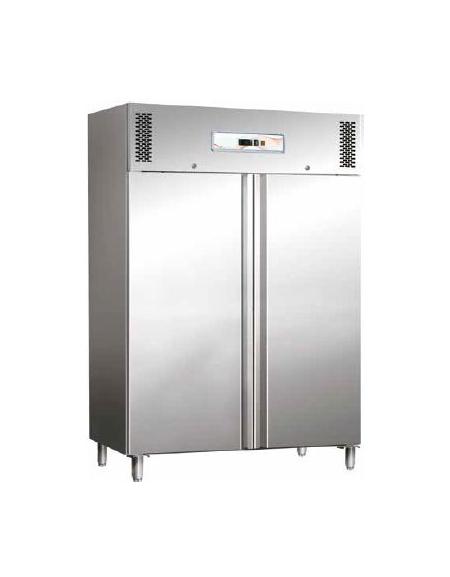 armadio frigorifero congelatore inox 2 porte lt.1400 -18°-22°c - cm