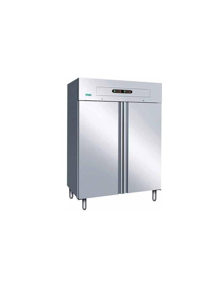 frigo inox ventilato doppia temperatura 2 8 c 18 22. Black Bedroom Furniture Sets. Home Design Ideas