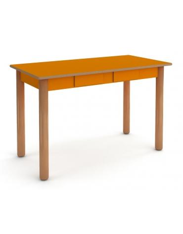 Tavolo rettangolare insegnante - 2 cassetti - cm 65x130x75h