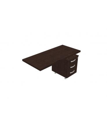 Dattilo direzionale complanare con cassettiera - cm130x60x73,5