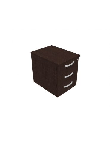 Cassettiera direzionale 3 cassetti su ruote - cm 42x56x57h