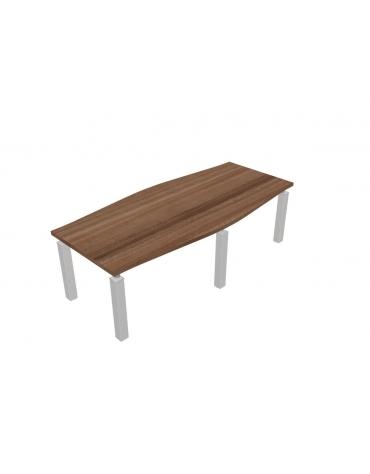 Tavolo riunione sagomato direzionale cm 240x110x73,5h