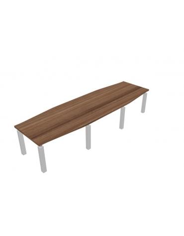 Tavolo riunione direzionale sagomato - cm 360x110x73,5h