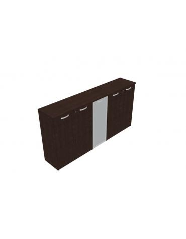 Mobile medio direzionale con ante legno con serratura e 1 vetro -  cm 237x47x122h
