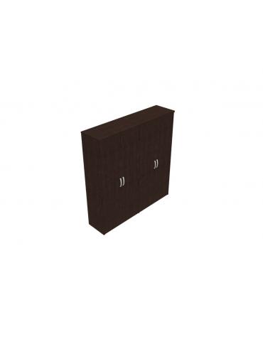 Mobile alto con ante intere in legno con serratura - cm 189x47x198h