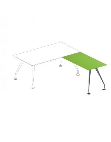 Allungo scrivania direzionale con piano in cristallo - gambe verniciate - cm 120x65x74h