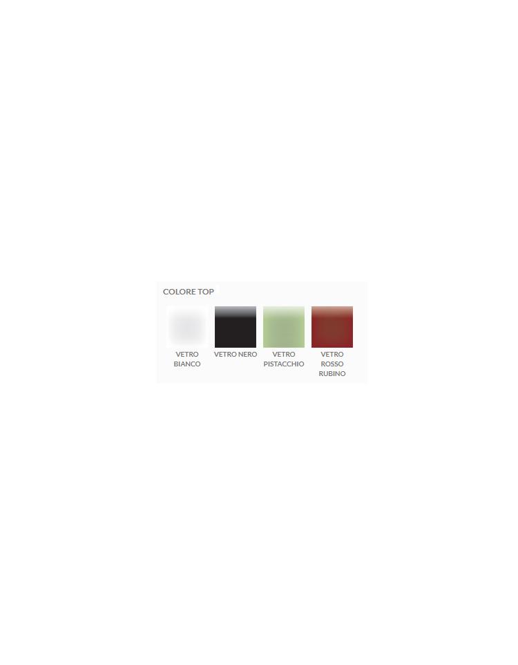 Tavolo riunione direzionale quadrato con piano in cristallo e gambe verniciate cm 120x120x74h