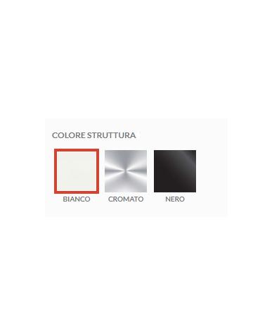 Tavolo riunione direzionale quadrato con piano in cristallo e gambe cromate - cm 120x120x74h