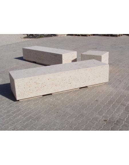 Panchine In Cemento Da Giardino.Panchina Rettangolare Monoblocco In Calcestruzzo Bianco Panchine