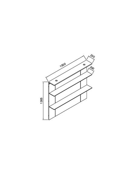 Mensole da bar adesivo a piani mensola da bagno angolare for Mensole quadrate ikea