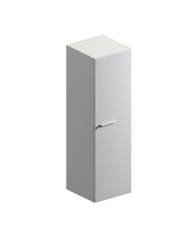 Mobile medio con anta in vetro colore bianco extra - cm 45x46x155,5h