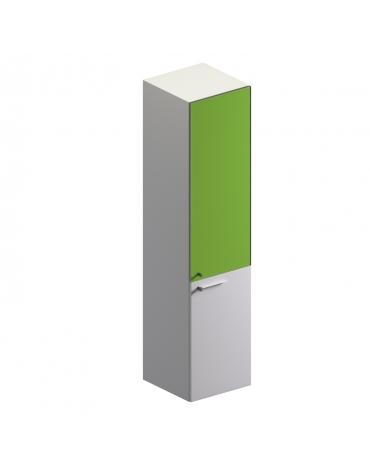 Mobile medio con 2 ante in vetro colore bianco extra - cm 45x46x194h