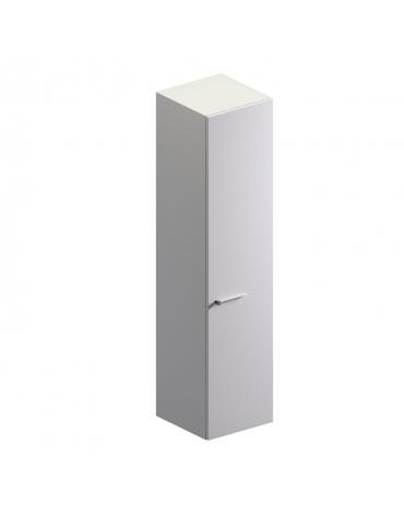 Mobile alto con anta in vetro colore bianco extra - cm 45x46x194h