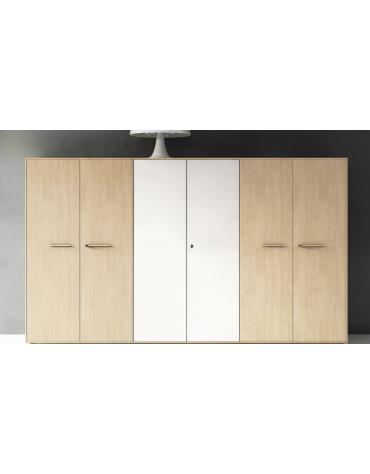 Mobile alto con 2 ante in legno porta abiti - cm 90x46x194h