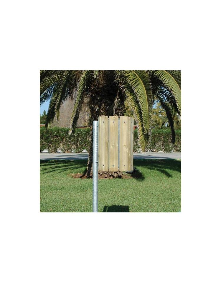 Cestino portarifiuti in legno per esterno da interrare for Cestini portarifiuti arredo urbano prezzi