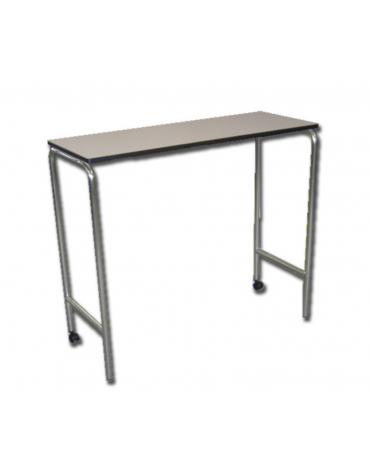 Tavolo servipranzo con struttura tubolare in alluminio lucido - cm 110x42x93h