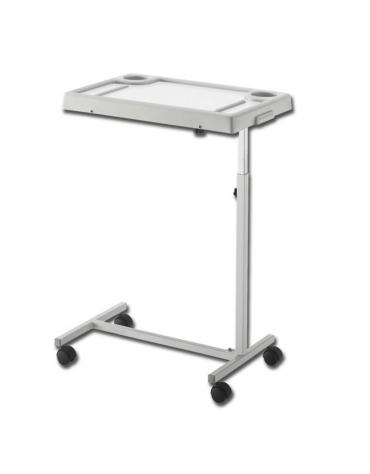 Tavolino servitore  in tubo d'acciaio, cromato/verniciato regolabile ed inclinabile  - altezza regolabile