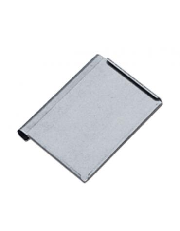 Porta cartelle in acciaio inox, formato A4 con plexiglass trasparente - cm 34x23